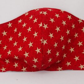 Red Star Print Mask – Adult Size